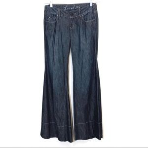 Level 99 Wide Leg Flare Low Rise Jeans 25